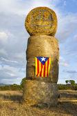 Catalonia Human chain — Stock Photo