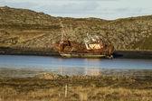 Navio naufragado — Fotografia Stock