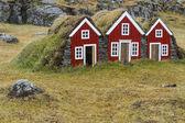 Casas Islandês — Fotografia Stock