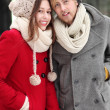 Couple in winter clothing — Stock Photo #23671487
