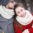 Winter couple - Stock fotografie