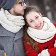 Winter couple - Foto Stock