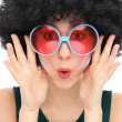 Stock Photo: Woman with black afro and sunglasses