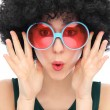Stock Photo: Womwith black afro and sunglasses