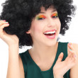 Woman with black afro hairstyle — Stock Photo #23689827
