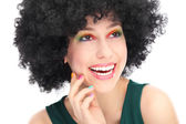 Woman with black afro hairstyle — Stock Photo