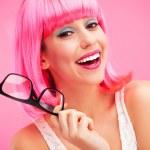 bella mujer con gafas — Foto de Stock