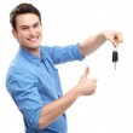 Man with Car Keys — Stock Photo