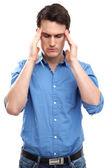 Man with a headache — Stock Photo