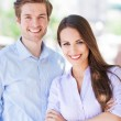 Young business couple — Foto de Stock