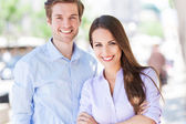 Young business couple — Stock Photo