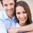 Stock Photo: Young couple smiling