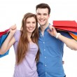 Couple with shopping bags — Stock Photo #27024261