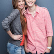 Young couple smiling — Stock Photo #27024727