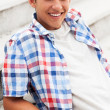 Teenage boy smiling — Stock Photo
