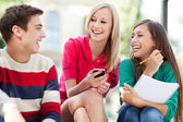 Friends laughing — Stock Photo