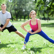 Couple Exercising In Park — Stock Photo #27251019