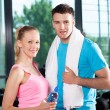 Couple at the gym — Stock Photo #27265657