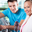Couple at the gym — Stock Photo #27265827