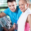 Couple at the gym — Stock Photo #27266075
