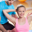 Couple working out — Stock Photo