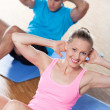 Couple working out — Stock Photo #27266647