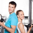 Couple at gym — Stock Photo #27267235