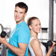 Stock Photo: Couple at gym