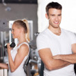 Couple at the gym — Stock Photo #27268329