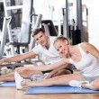 Couple at the gym — Stock Photo #27268681