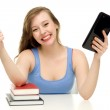 Student with books and digital tablet — Stock Photo #27313669