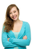 Attractive young woman standing — Stock Photo