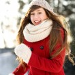 Young woman outdoors in winter — Stock Photo