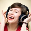 Young woman wearing headphones — 图库照片 #27519989