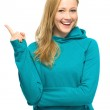 Young woman pointing — Stock Photo #27626103