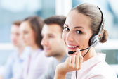 Call center team — 图库照片