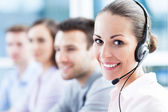 Call center team — Stock Photo