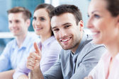 Business team applauding — Stock Photo