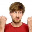 Young man pointing — Stock Photo #27693419