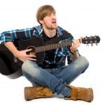 Рок гитарист — Стоковое фото