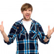 Young man gesturing — Stock Photo #27693209
