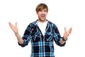 Young man gesturing — Stock Photo
