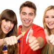 Young with thumbs up — Stock Photo