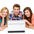 Young looking at laptop — Stock Photo #27815069