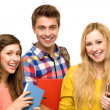 Students holding books — Stock Photo #27816057