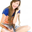 Young woman listening to music — Stock Photo #27818185
