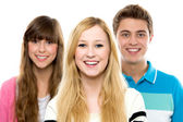 Casual group in a row — Stock Photo