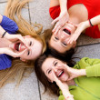 Three young women shouting — Stock Photo #27870555