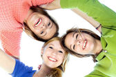 Three Beautiful Young Women Friends — Stock Photo