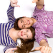 Teens With Thumbs Up — Stock Photo #27882561